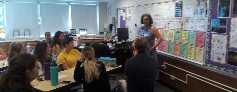 Fran Groff Gonzales meeting with Educators